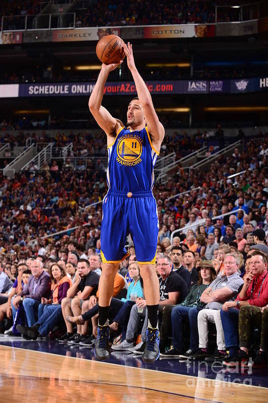 Nba Pro Basketball Art Print featuring the photograph Klay Thompson by Barry Gossage