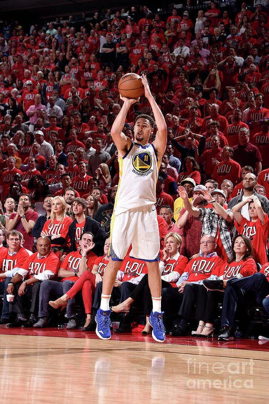 Playoffs Art Print featuring the photograph Klay Thompson by Bill Baptist