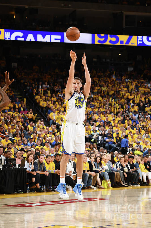 Playoffs Art Print featuring the photograph Klay Thompson by Garrett Ellwood
