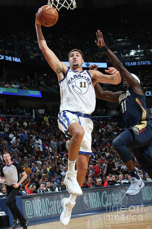 Smoothie King Center Art Print featuring the photograph Klay Thompson by Layne Murdoch