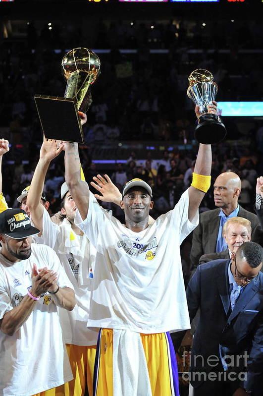 Playoffs Art Print featuring the photograph Kobe Bryant by Jesse D. Garrabrant