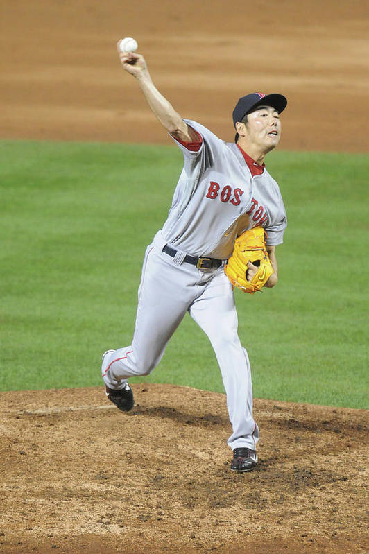 Ninth Inning Art Print featuring the photograph Koji Uehara by Mitchell Layton