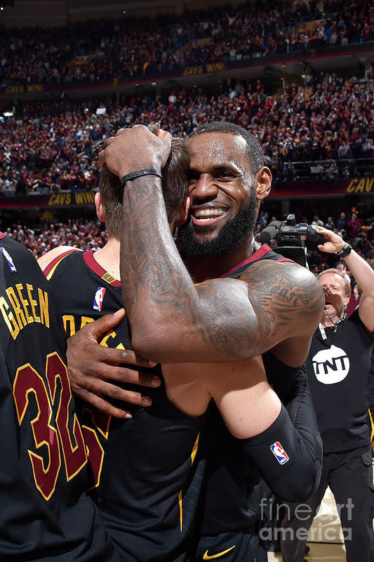 Playoffs Art Print featuring the photograph Kyle Korver and Lebron James by David Liam Kyle
