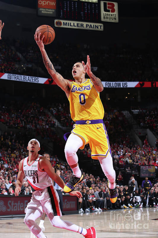 Nba Pro Basketball Art Print featuring the photograph Kyle Kuzma by Sam Forencich