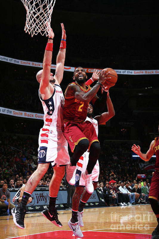 Nba Pro Basketball Art Print featuring the photograph Kyrie Irving by Ned Dishman