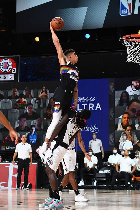 Nba Pro Basketball Art Print featuring the photograph LA Clippers v Denver Nuggets - Game Three by Garrett Ellwood