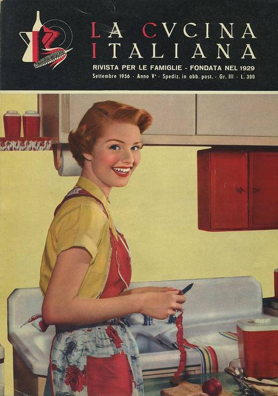 La Cucina Italiana September 1956 Art Print By Artist Unknown