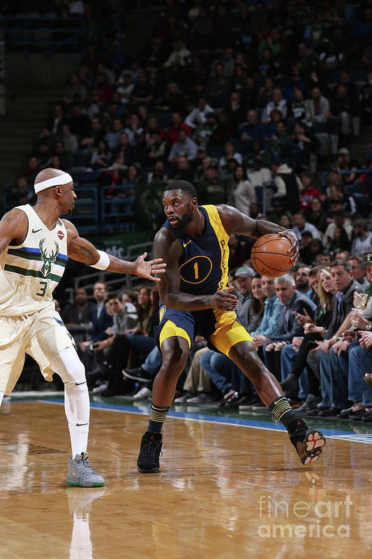 Nba Pro Basketball Art Print featuring the photograph Lance Stephenson by Gary Dineen