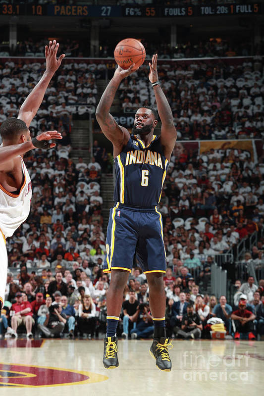 Playoffs Art Print featuring the photograph Lance Stephenson by Jeff Haynes
