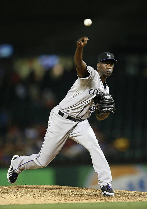 Ninth Inning Art Print featuring the photograph Latroy Hawkins by Rick Yeatts