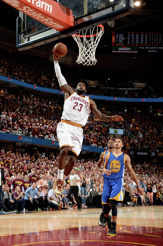 Playoffs Art Print featuring the photograph Lebron James by Andrew D. Bernstein