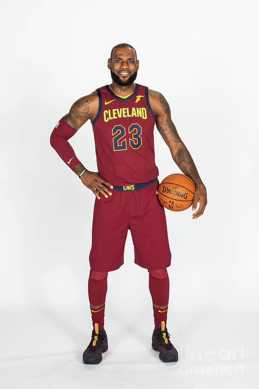 Media Day Art Print featuring the photograph Lebron James by Michael J. Lebrecht Ii