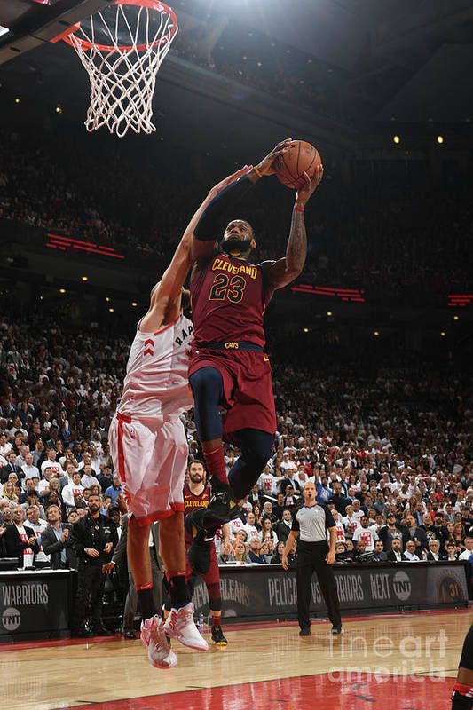 Playoffs Art Print featuring the photograph Lebron James by Ron Turenne