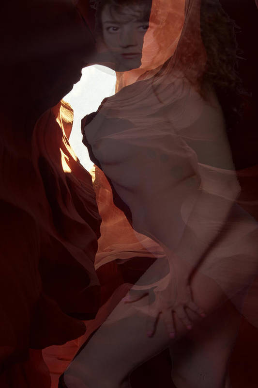 Lower Antelope Canyon Art Print featuring the photograph Lower Antelope Canyon Nymph 2 by Richard Henne