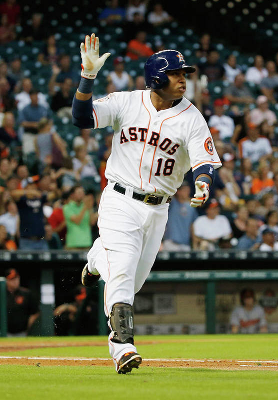 People Art Print featuring the photograph Luis Valbuena by Scott Halleran