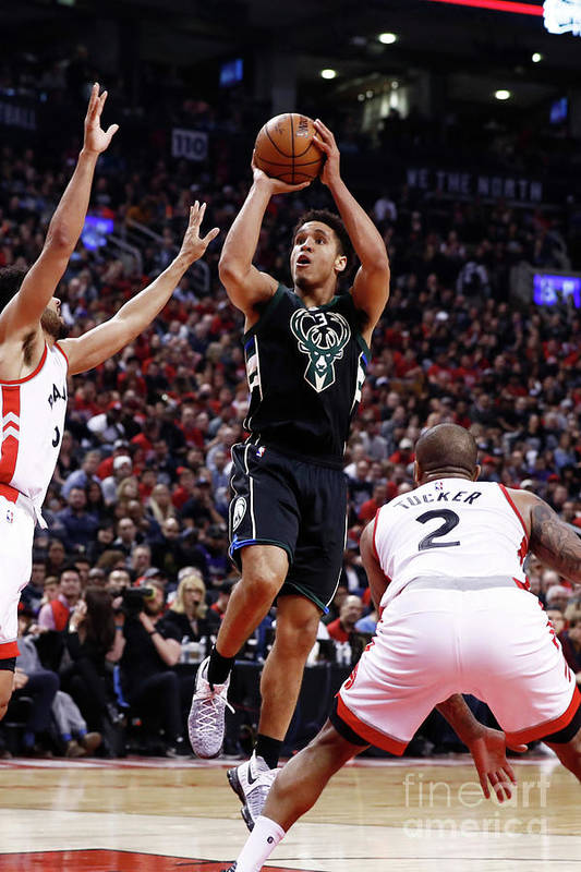 Playoffs Art Print featuring the photograph Malcolm Brogdon by Mark Blinch