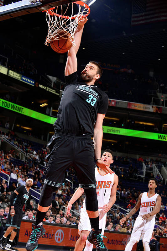 Nba Pro Basketball Art Print featuring the photograph Marc Gasol by Barry Gossage
