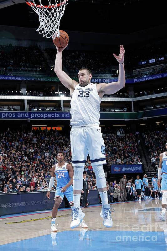Nba Pro Basketball Art Print featuring the photograph Marc Gasol by Rocky Widner