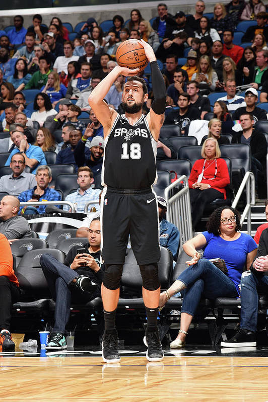 Nba Pro Basketball Art Print featuring the photograph Marco Belinelli by Gary Bassing