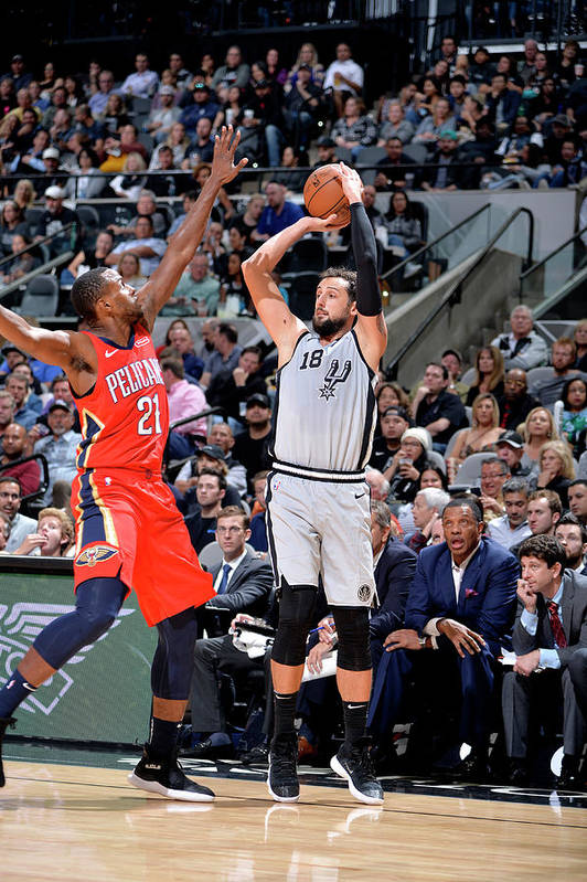 Nba Pro Basketball Art Print featuring the photograph Marco Belinelli by Mark Sobhani