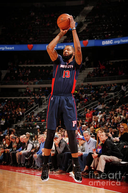 Nba Pro Basketball Art Print featuring the photograph Marcus Morris by Brian Sevald