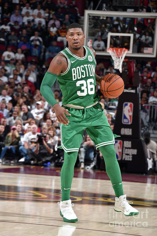 Nba Pro Basketball Art Print featuring the photograph Marcus Smart by David Liam Kyle