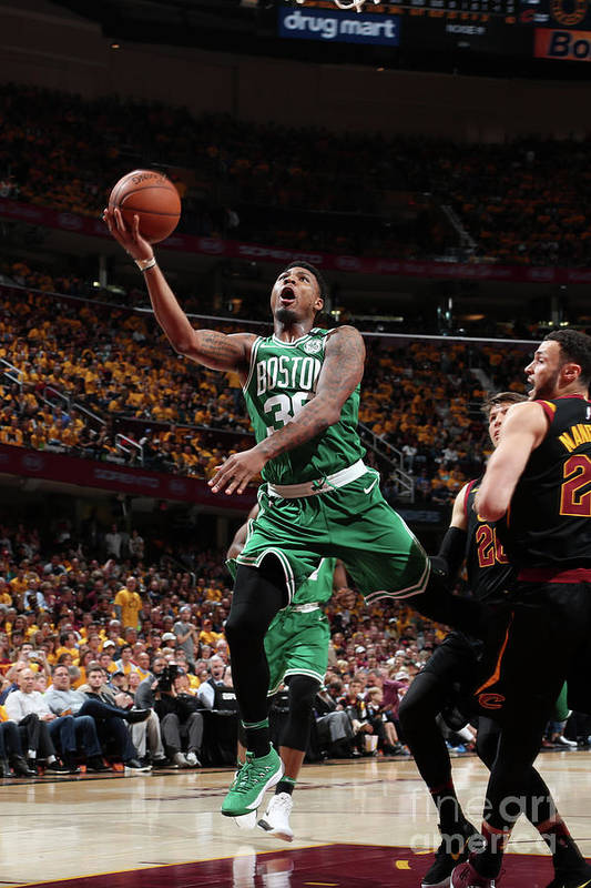 Playoffs Art Print featuring the photograph Marcus Smart by Nathaniel S. Butler