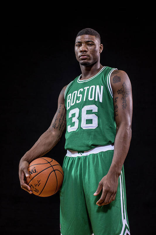 Nba Pro Basketball Art Print featuring the photograph Marcus Smart by Nick Laham