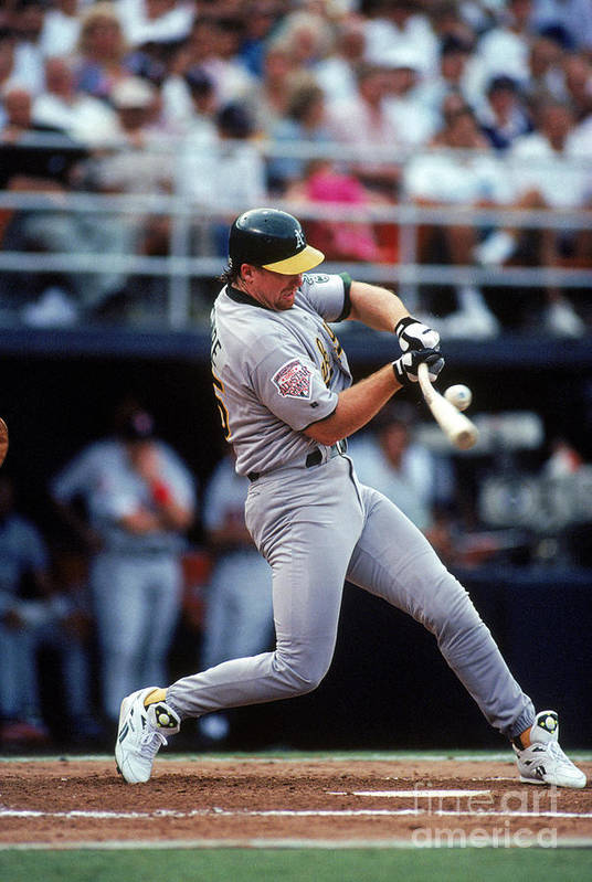 All Star Game Art Print featuring the photograph Mark Mcgwire by Ron Vesely