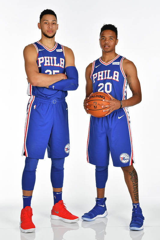 Media Day Art Print featuring the photograph Markelle Fultz and Ben Simmons by Jesse D. Garrabrant