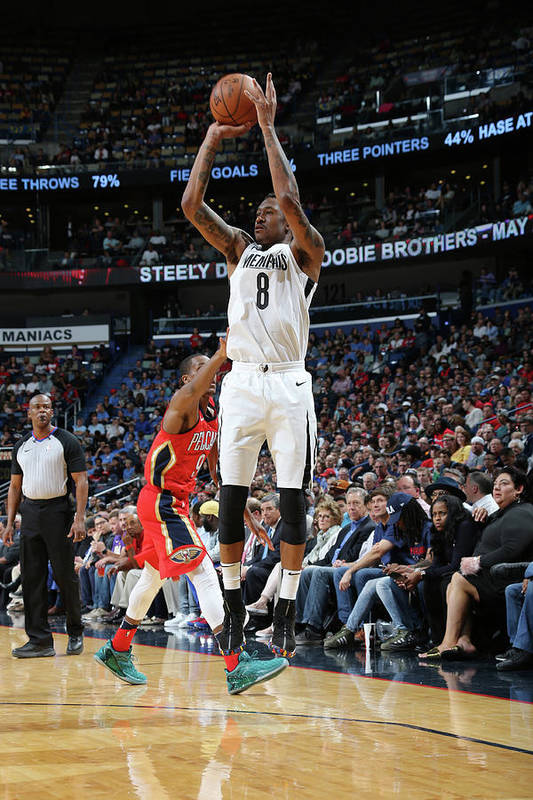 Smoothie King Center Art Print featuring the photograph Marshon Brooks by Layne Murdoch Jr.