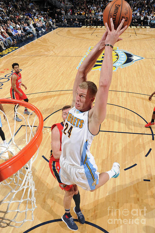Nba Pro Basketball Art Print featuring the photograph Mason Plumlee by Garrett Ellwood