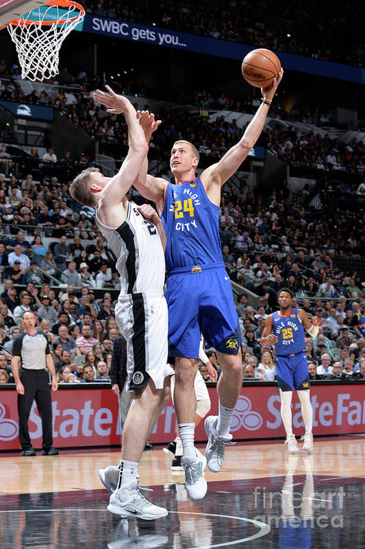 Playoffs Art Print featuring the photograph Mason Plumlee by Mark Sobhani