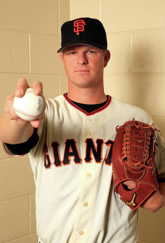 Media Day Art Print featuring the photograph Matt Cain by Jamie Squire