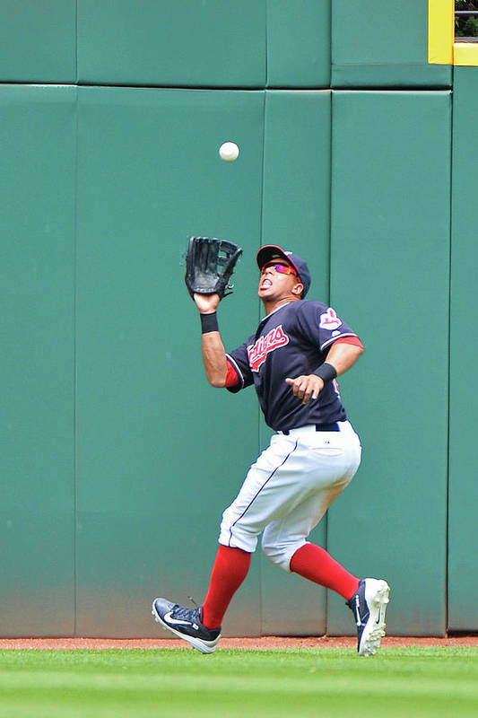 People Art Print featuring the photograph Michael Brantley by Jamie Sabau