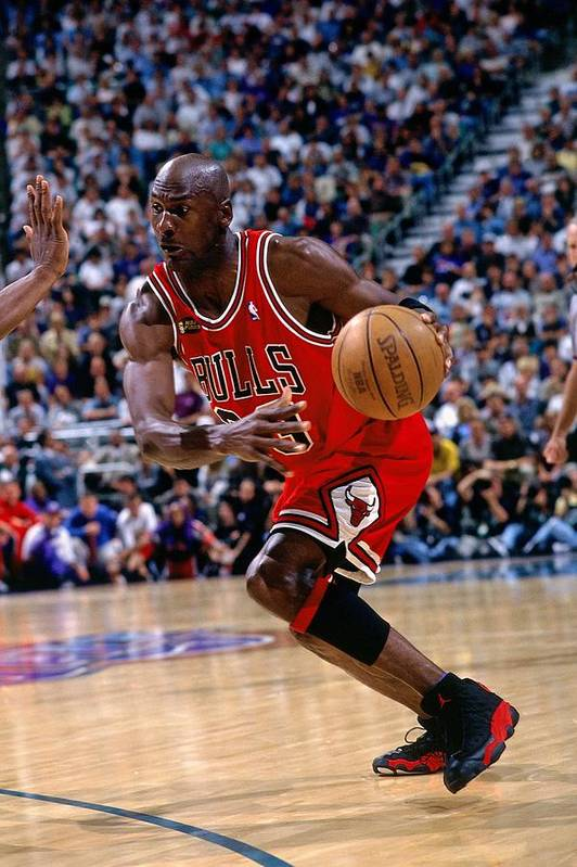 Chicago Bulls Art Print featuring the photograph Michael Jordan by Andrew D. Bernstein