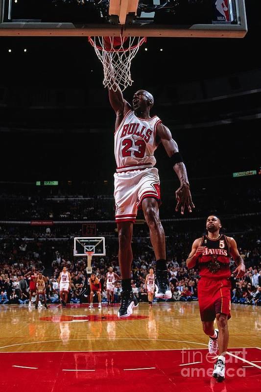 Chicago Bulls Art Print featuring the photograph Michael Jordan by Nathaniel S. Butler