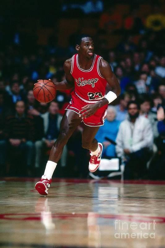 Chicago Bulls Art Print featuring the photograph Michael Jordan by Scott Cunningham
