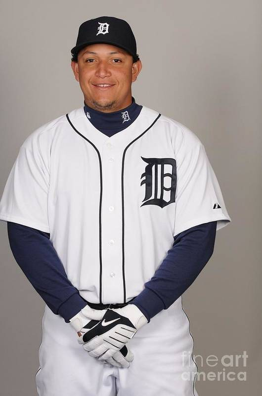 Media Day Art Print featuring the photograph Miguel Cabrera by Tony Firriolo