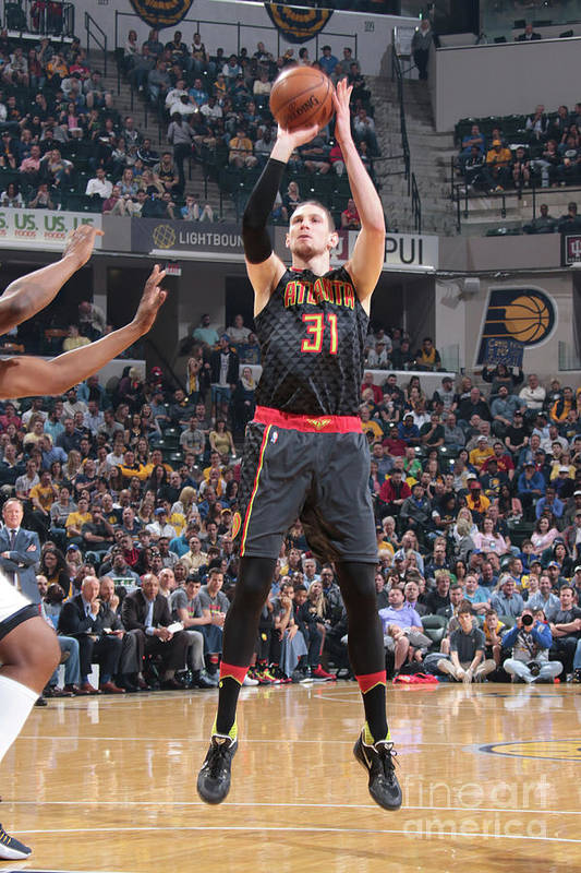 Nba Pro Basketball Art Print featuring the photograph Mike Muscala by Ron Hoskins