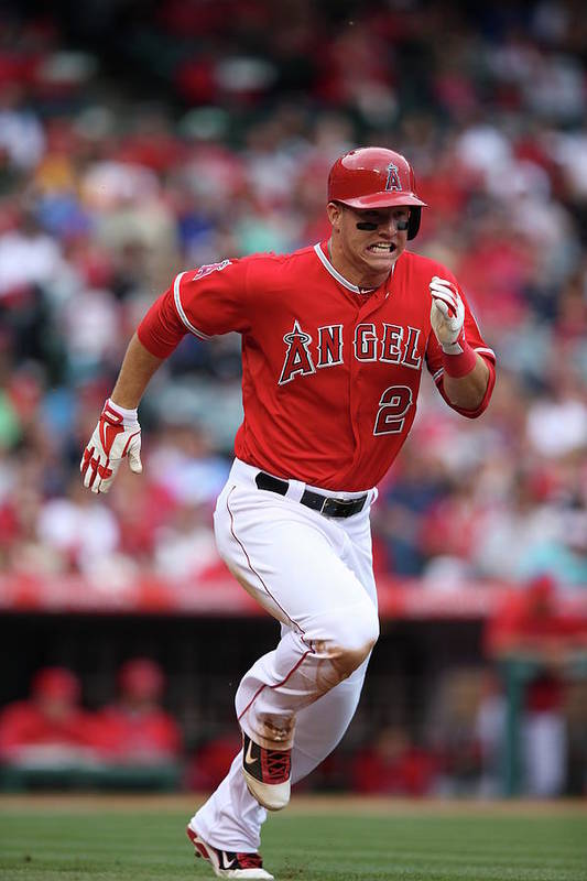 People Art Print featuring the photograph Mike Trout by Paul Spinelli