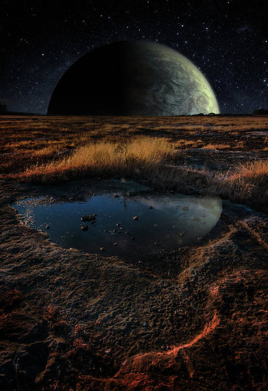 Composite Art Print featuring the photograph Moonrise on the Ugarit Plain by Jim Painter