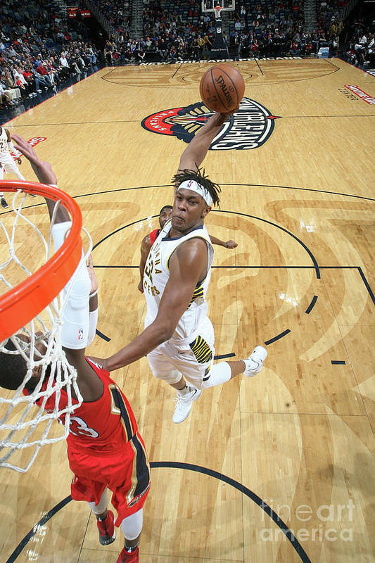 Smoothie King Center Art Print featuring the photograph Myles Turner by Layne Murdoch