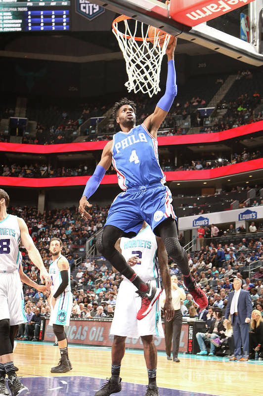 Nba Pro Basketball Art Print featuring the photograph Nerlens Noel by Brock Williams-smith