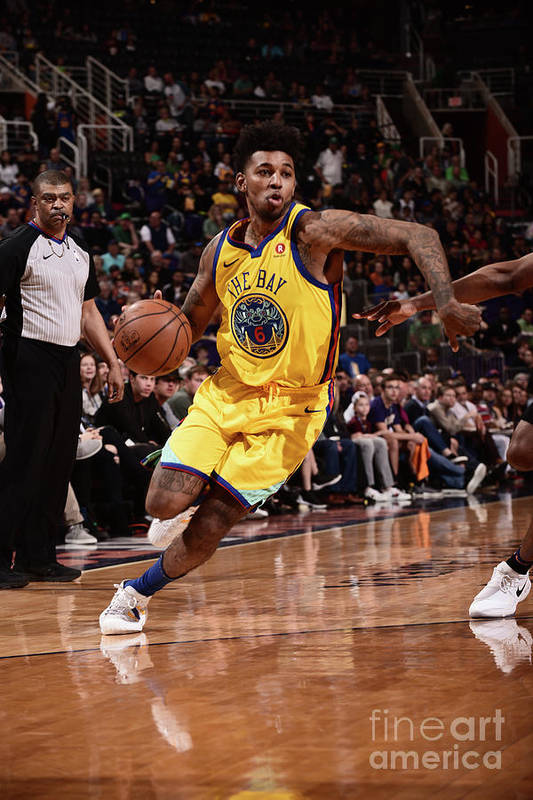 Sports Ball Art Print featuring the photograph Nick Young by Michael Gonzales