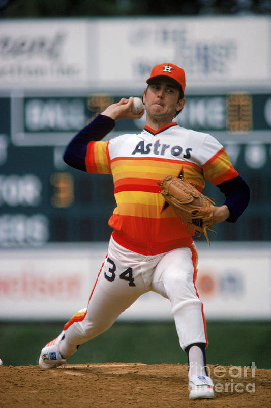 1980-1989 Art Print featuring the photograph Nolan Ryan by Rich Pilling