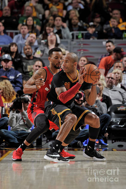 Nba Pro Basketball Art Print featuring the photograph Norman Powell and Dahntay Jones by David Liam Kyle