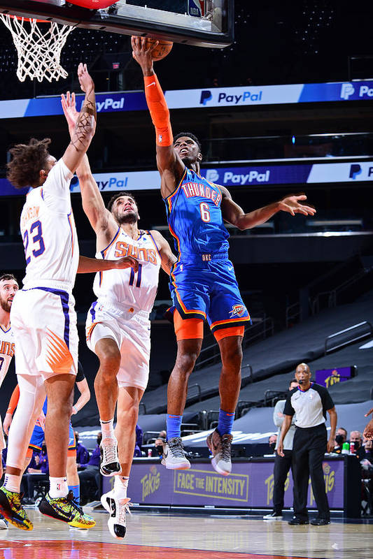 Nba Pro Basketball Art Print featuring the photograph Oklahoma City Thunder v Phoenix Suns by Michael Gonzales