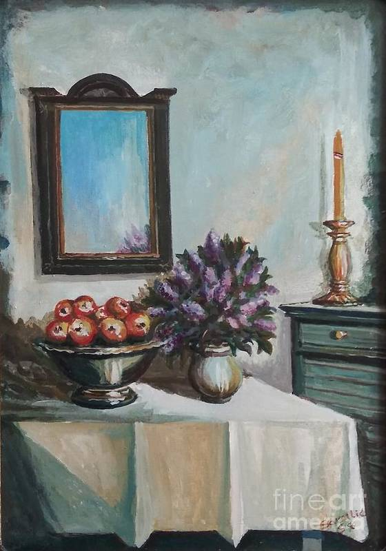 Still Life Art Print featuring the painting Old Memories 2 by Sinisa Saratlic