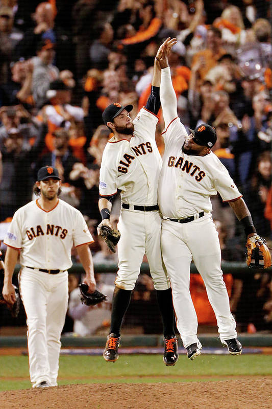 San Francisco Art Print featuring the photograph Pablo Sandoval and Brandon Belt by Thearon W. Henderson